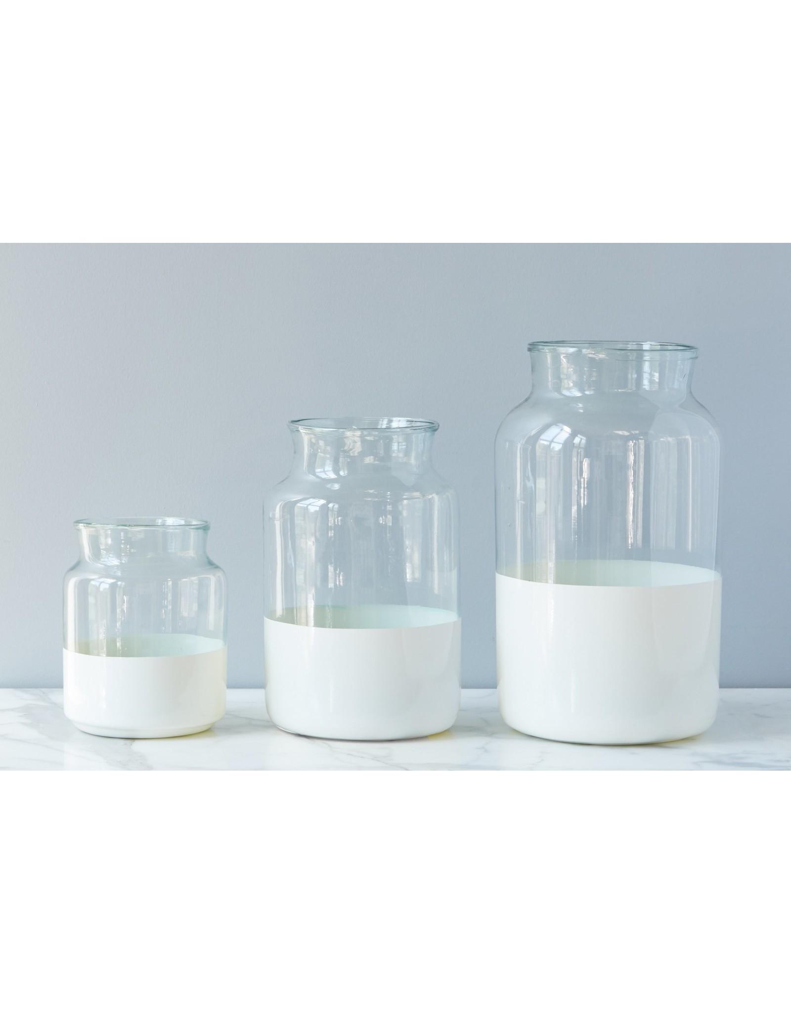 White Dipped Mason Jar Small