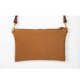 Cross Body Bag Leather: Med Brown