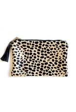 Hair on Hide Clutch : Cheetah Print Cow Hide