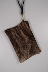 Hair on Hide Clutch : Dark Brindle