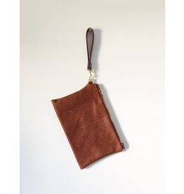 Leather Clutch: Brown Leather