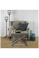 Upholstered Ottoman with Nailheads