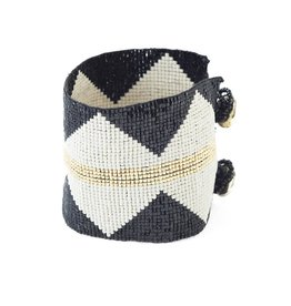 Black with Ivory Diamonds Bracelet