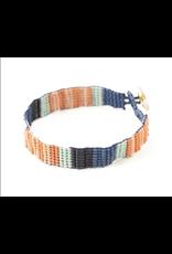 Lapis Stripe Bead Bracelet