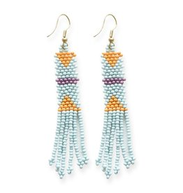 Light Blue Petite Fringe Earring