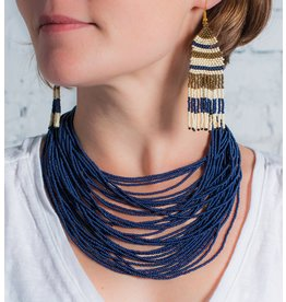 Navy Multi-Strand Necklace