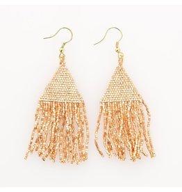 Rose Gold Luxe Petite Fringe Earring
