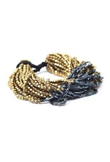 Gold with Blue Multi Strand Bracelet