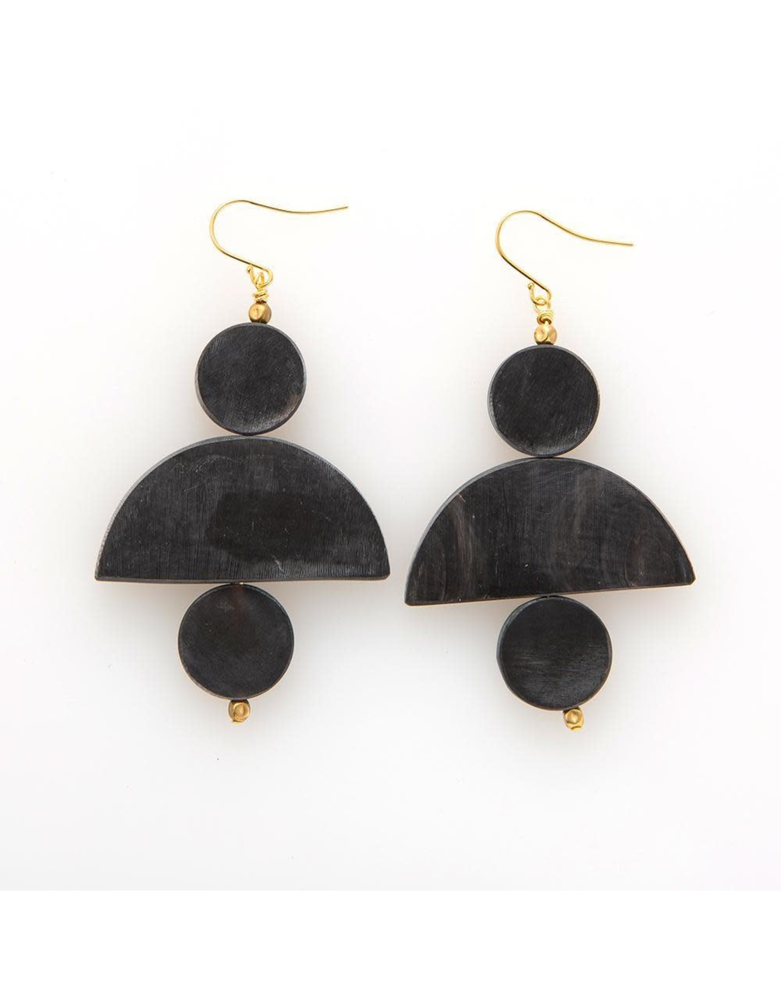 black horn 3 piece earring