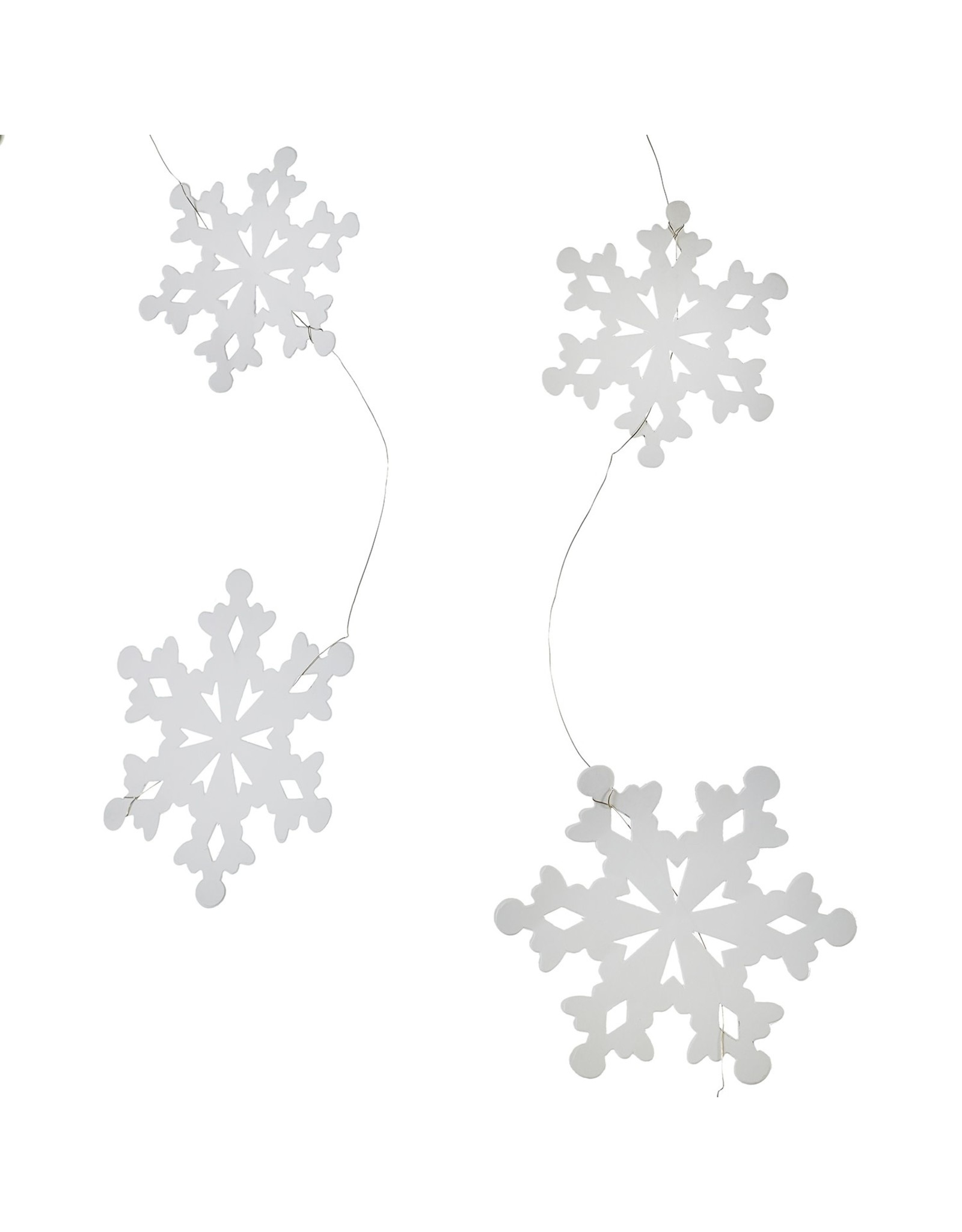 Paper Snowflake Garland 6ft Wh