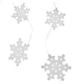 Paper Snowflake Garland 6ft Wh