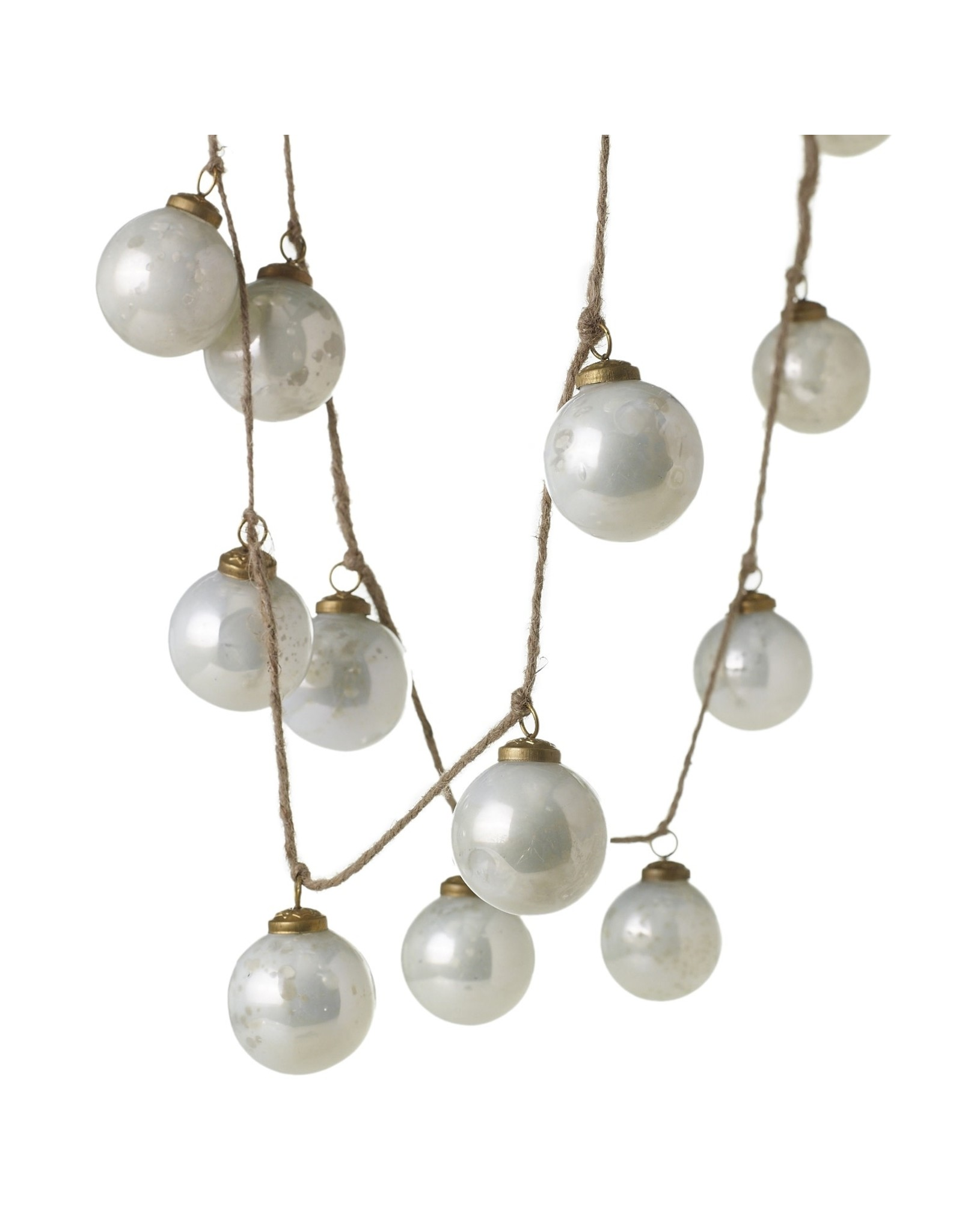 Milky Ornament Garland 72""