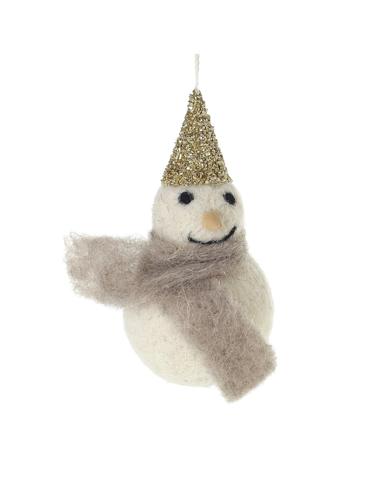 "Felt Frosty Ornament 2"" x 4"""