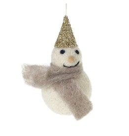 """Felt Frosty Ornament 2"""" x 4"""""""