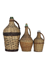 Wicker Covered Wine Bottle Small