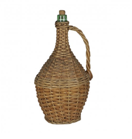 Wicker Covered Wine Bottle Medium
