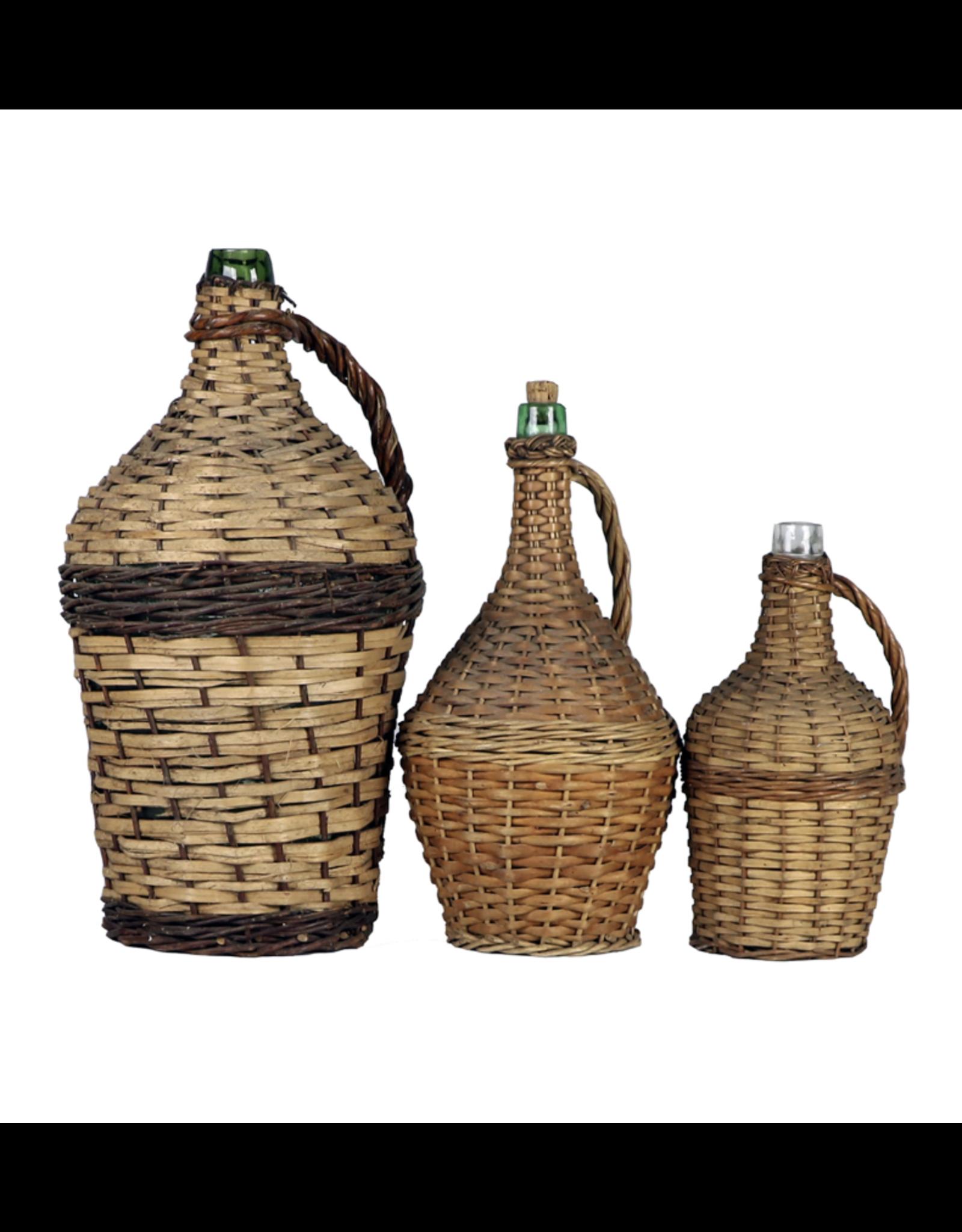 Wicker Covered Wine Bottle Medium