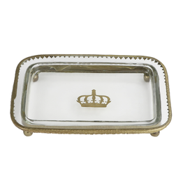 Glass Tray with Crown