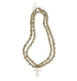 MARBLE CROSS BEADS-WHITE
