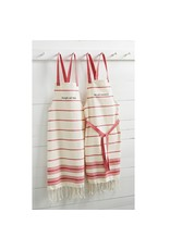 SLEIGH RED TURKISH TOWEL APRON
