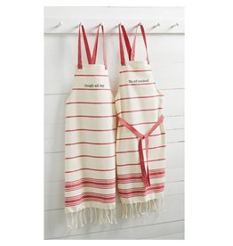SLEIGH RED TURKISH TOWEL APRON
