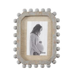 Grey Beaded Edge Frame Small
