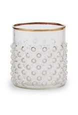 GOLD BUBBLE DOUBLE OLD FASHION GLASS SET