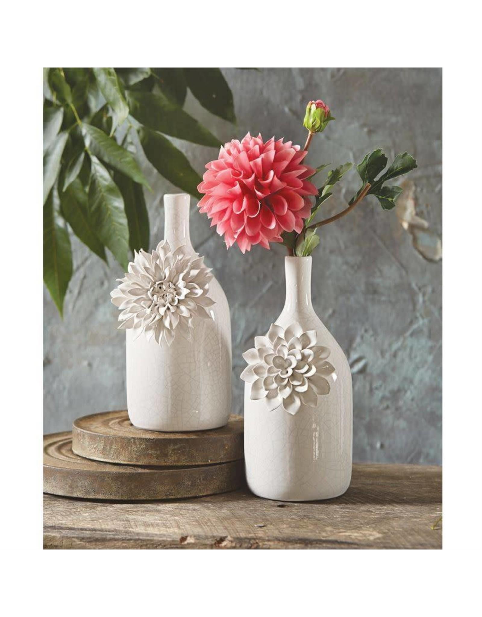 Stoneware Mum & Rose Vases