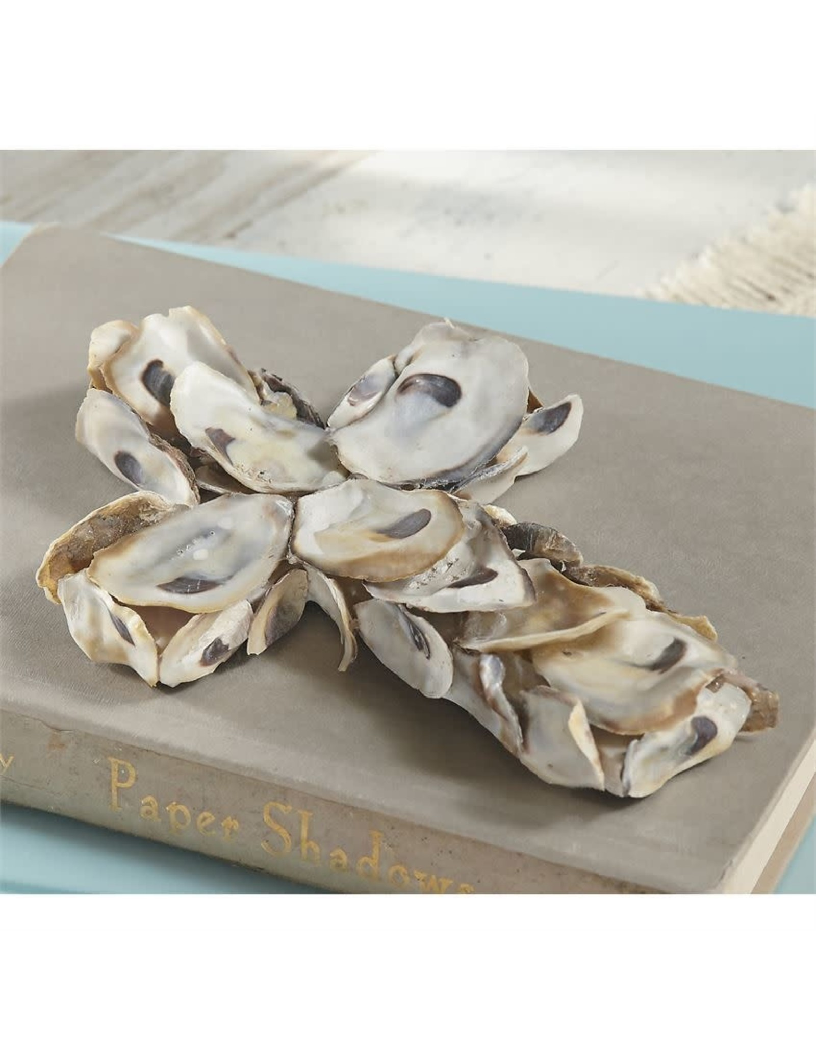 OYSTER SHELL SMALL CROSS
