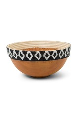 Black and White Wood Bowl