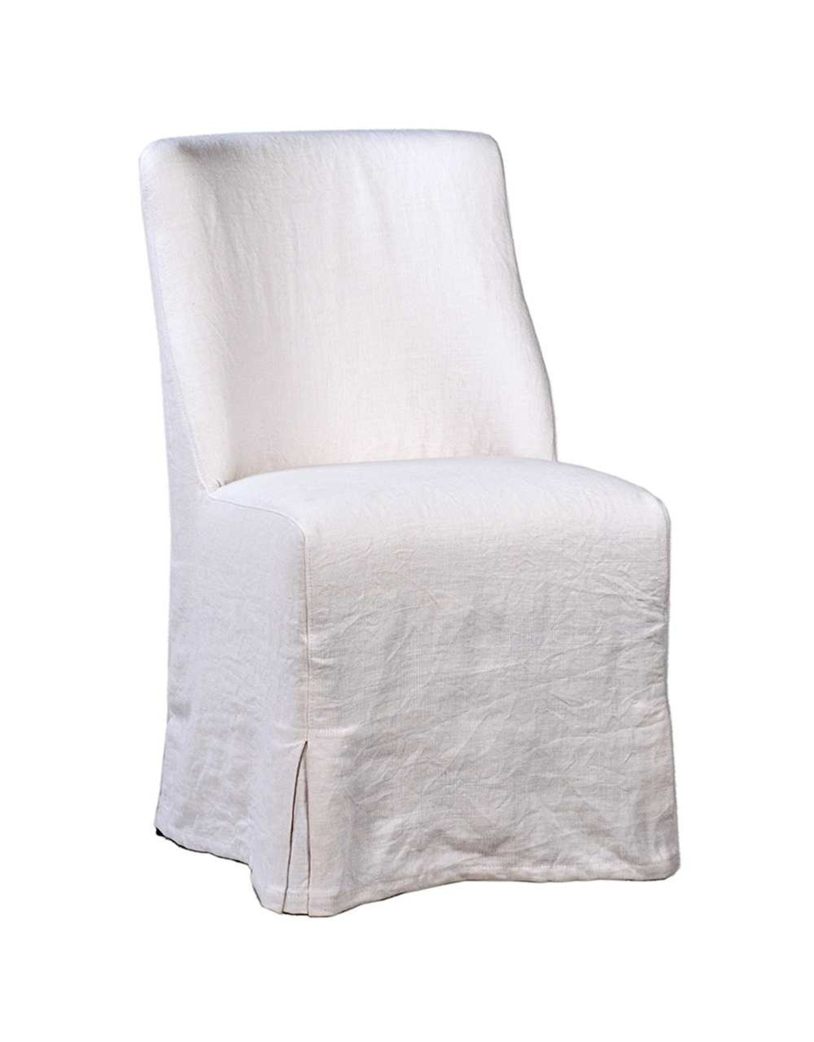 White Linen Dining Chair
