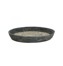 Carbon Heathered Raffia Tray