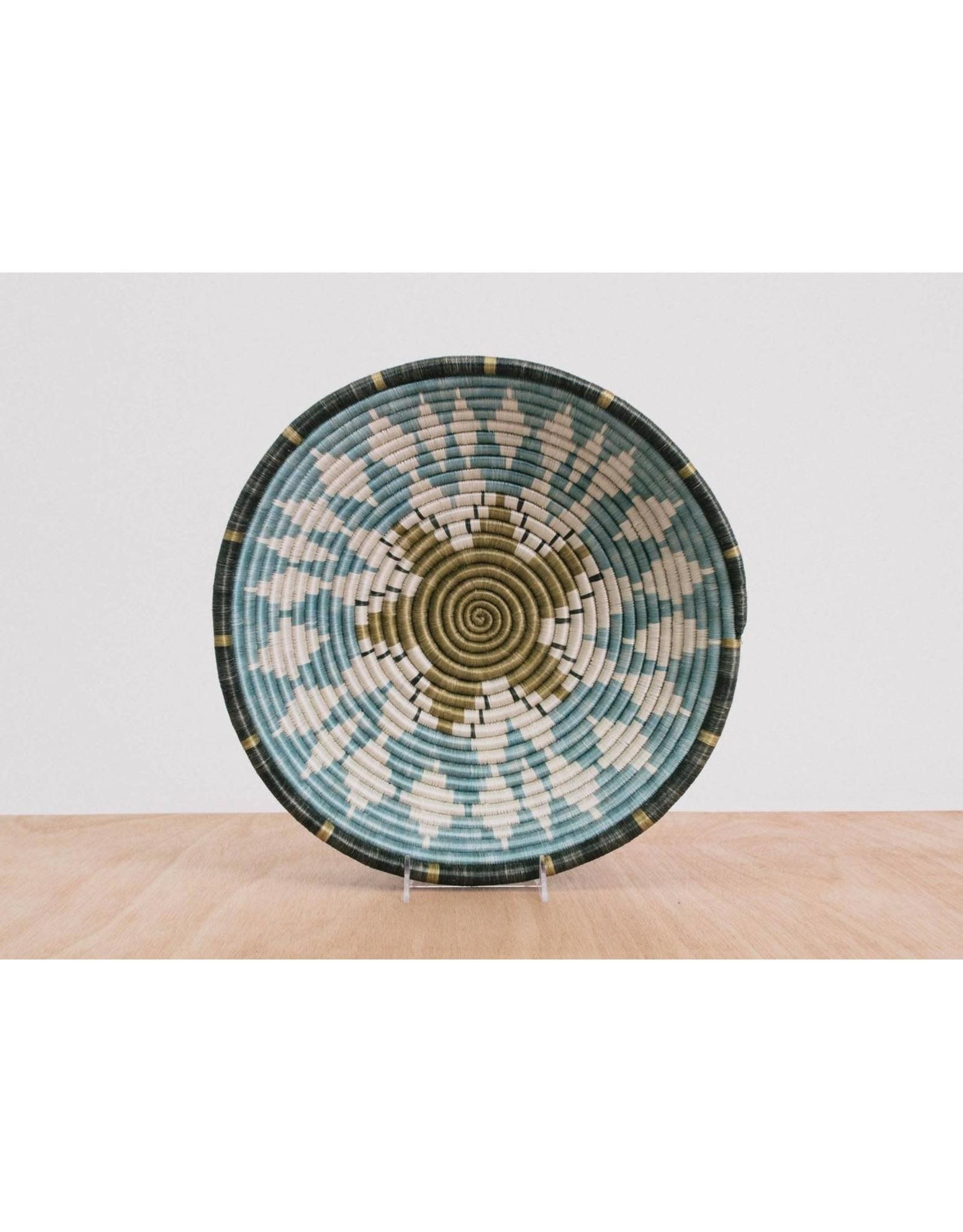 Lg Silver Blue Hope Basket