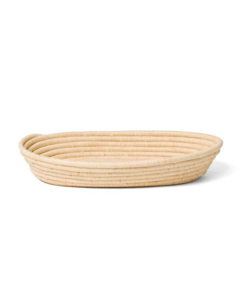 Lg Oval Natural Raffia Catch All