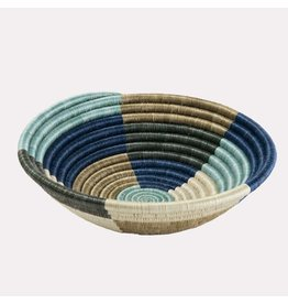 Medium Silver Blue Umuseke Basket