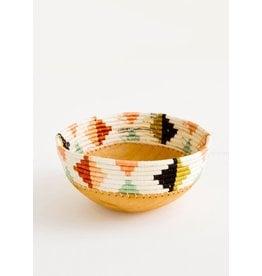 Desert Flower Wooden Bowl