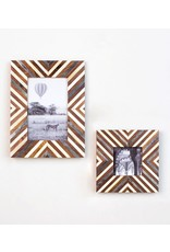 "Banka Mundi Frame - Brown and White 4"" x 6"""