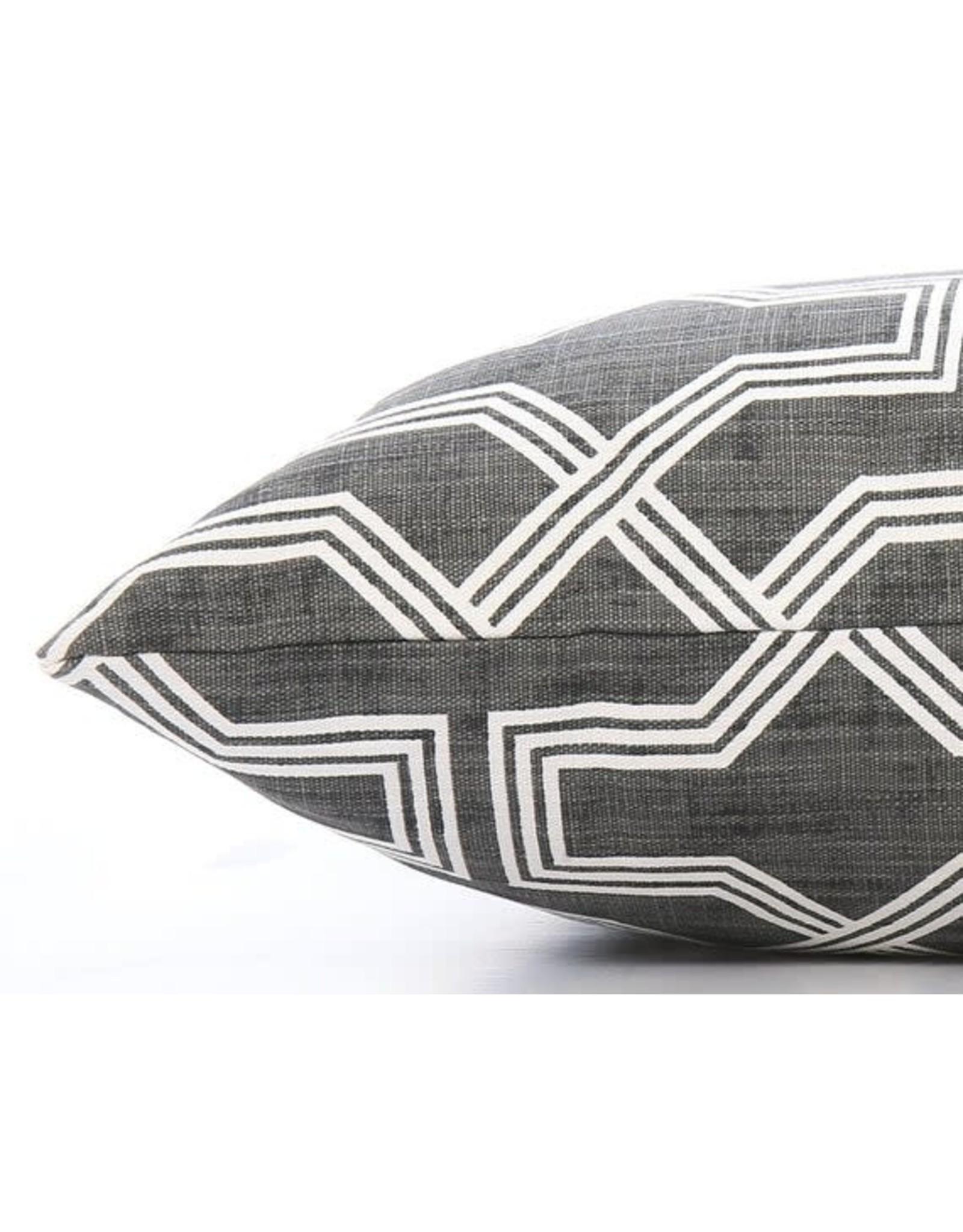 Medium Trellis Charcoal Geometric Dog Bed