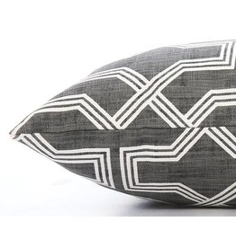 Medium Trellis Charcoal Geometric Dog Bed