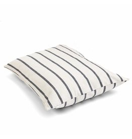 Large Modern Stripe Charcoal Dog Bed