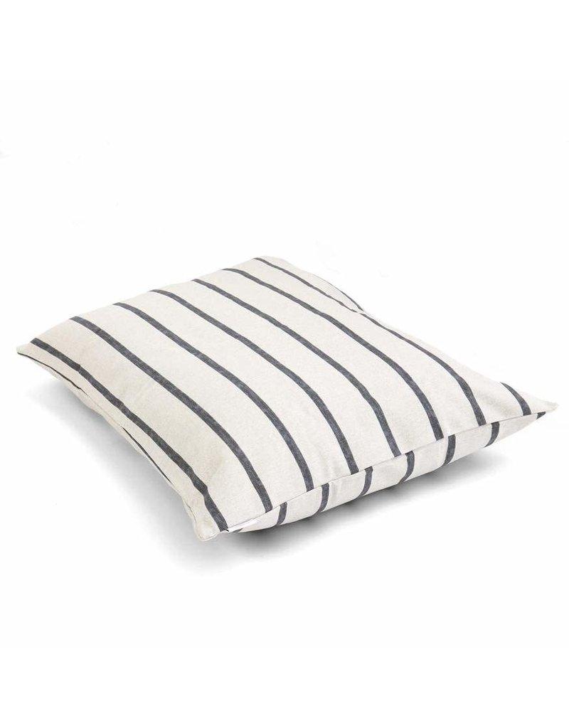 Large Modern Stripe Charcoal Dog Bed