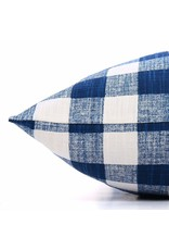 Small Navy Blue Gingham Check Dog Bed