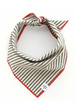 Charcoal Stripe Dog Bandana Medium