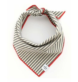 Charcoal Stripe Dog Bandana Small