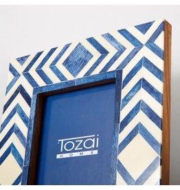 "Blue Bone Mosaic Frames (Set of 2) 4x6"""