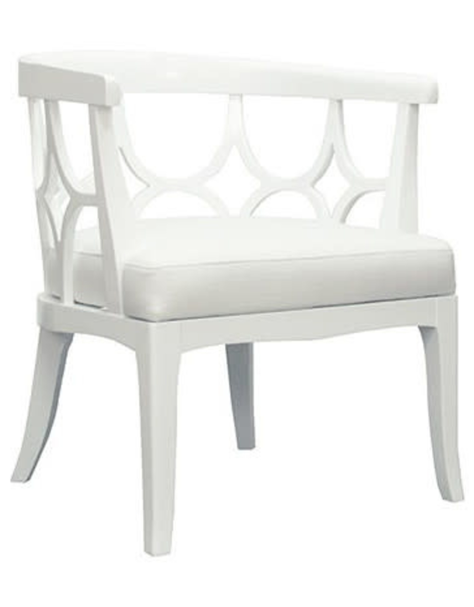 White Barrel Back Chair