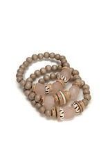 Trio Stack Bracelet Set - Blush