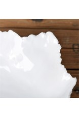 Small White Freeform Ceramic Bowl