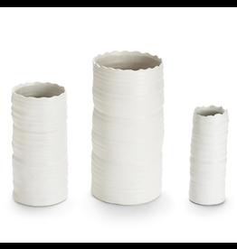 White Organic Cylinder Vase-Medium