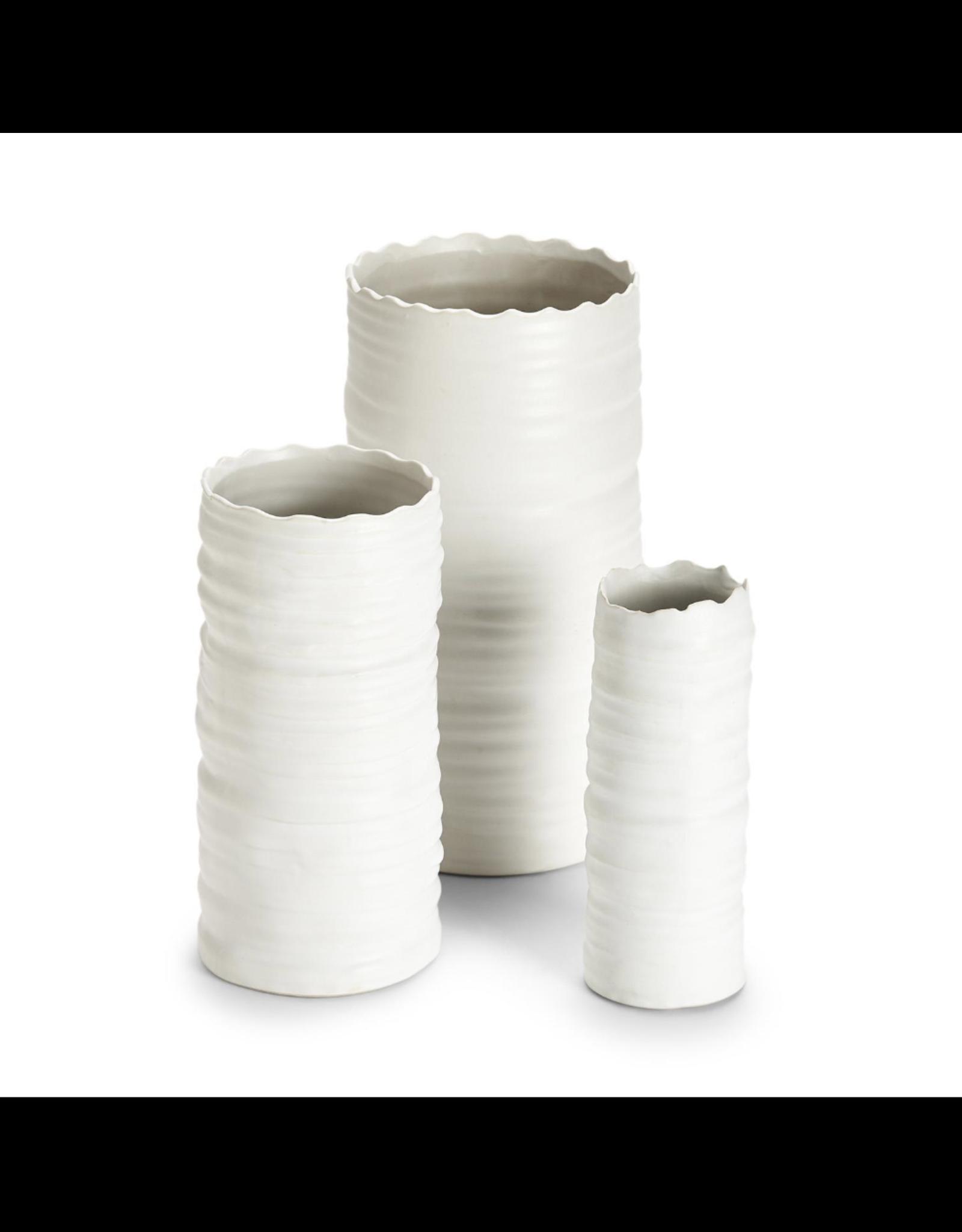 Small White Organic Cylinder Vase